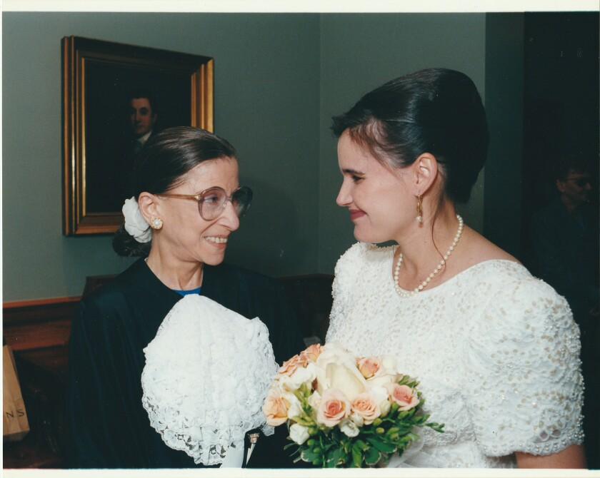 Sara-Ellen Amster was married by her cousin Justice Ruth Bader Ginsburg in 1999.