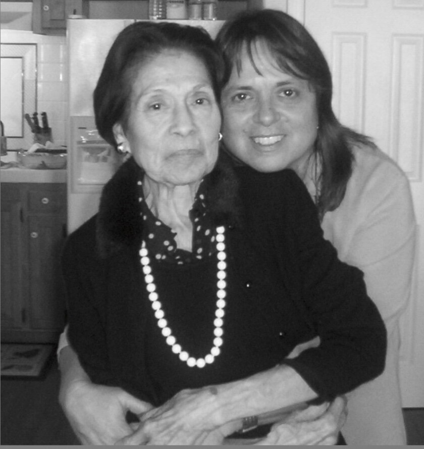 """Elvira and her daughter and author, Cherr?e Moraga of """"Native Country of the Heart,"""" Christmas 2004"""
