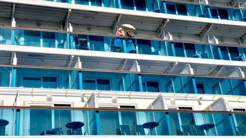 """Photo to go with an upcoming cruise column on """"what not do in your cabin or balcony."""
