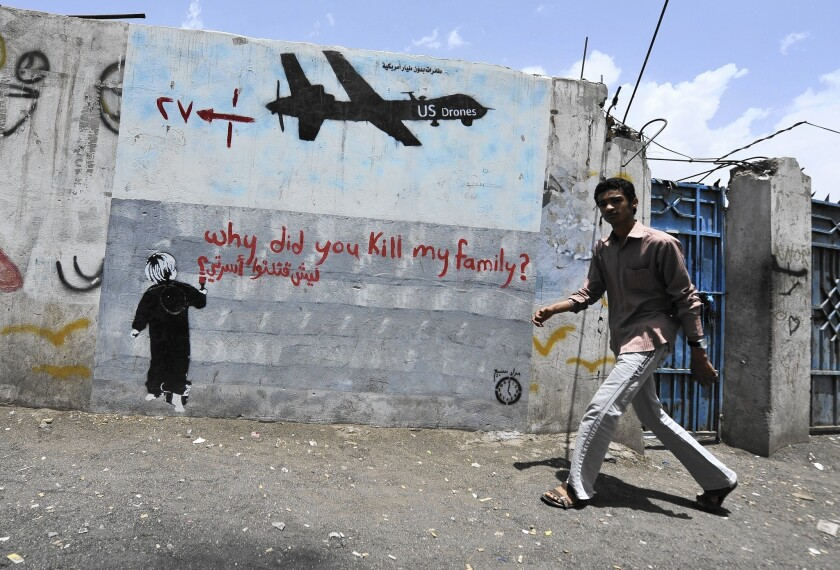 U.S. drone strikes have killed thousands of civilians far from combat zones in places such as Yemen and Pakistan.