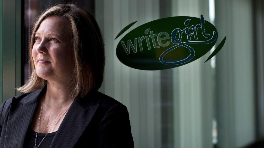 LOS ANGELES, CA – APRIL 6, 2011: Keren (cq) Taylor is the founder of writegirl. The non–profit busin