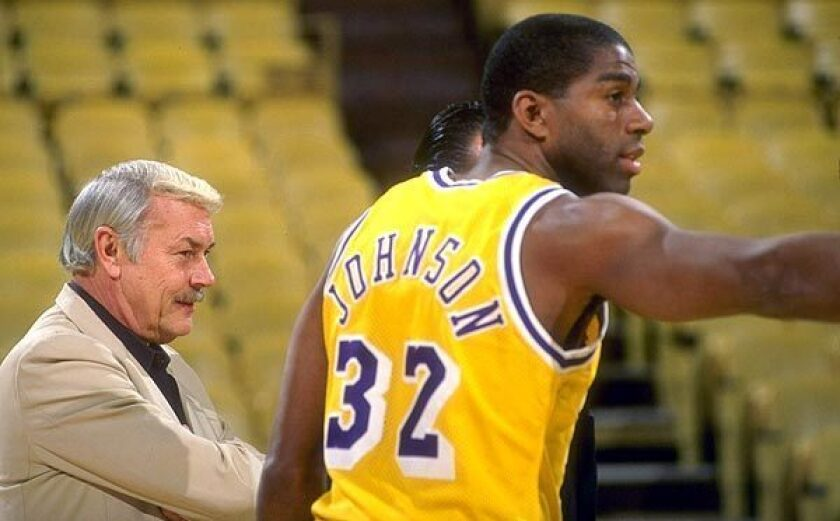 Jerry Buss' Lakers drafted Magic Johnson with the No. 1 overall pick in the NBA draft in 1979.