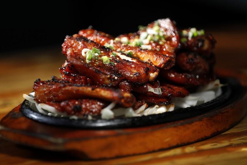 Pork ribs at Ham Ji Park