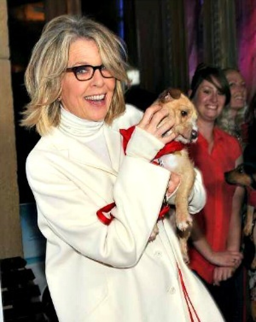 """Actress Diane Keaton arrives at the premiere of """"Darling Companion"""" at the Egyptian Theatre in Hollywood."""