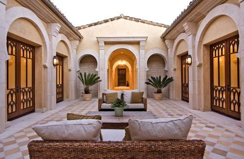 An interior courtyard is at the center of the home, which was inspired in part by the Alhambra palace in Spain. It is listed for $9.3 million.