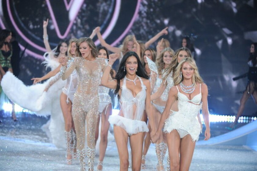 """Models walk down the runway during the """"Victoria's Secret Fashion Show."""""""
