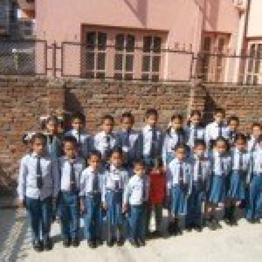 Some of the children at the Chhahari shelter.