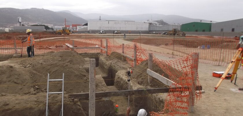 At the site of Baja California's future desalination plant in Ensenada.