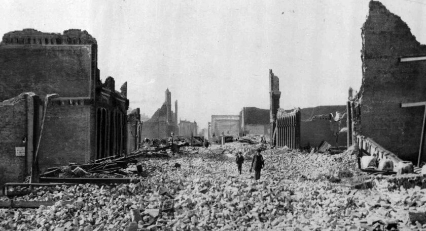 One of the worst natural disasters in U.S. history, the 1906 San Francisco earthquake and subsequent fires killed more than 3,000 people and left the city in ruins. The quake's magnitude has been estimated in recent years at 7.7 to 7.9. S.F. Rises Early to Mark 1906 Quake | What was the magnitude?