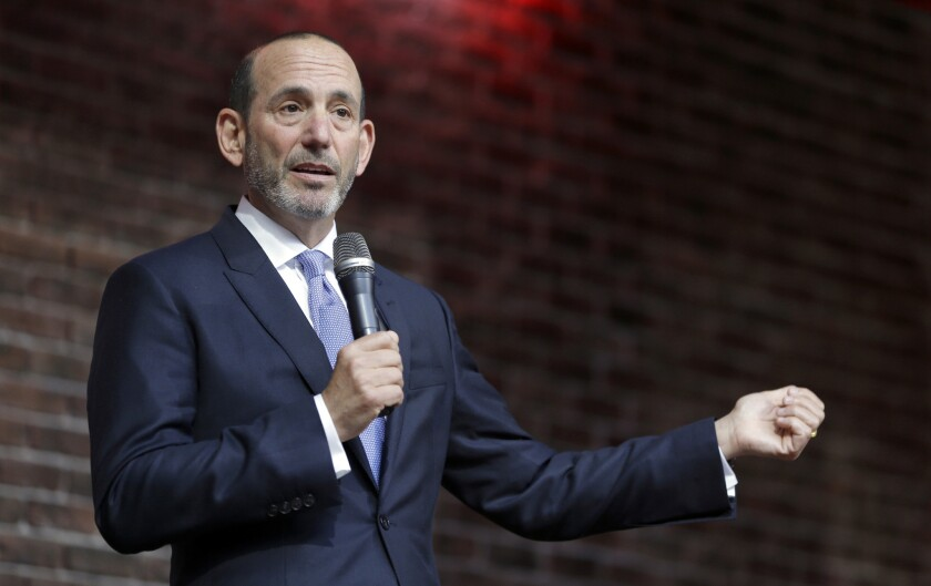 "Major League Soccer Commissioner Don Garber, shown in May 2015, says, ""Our best days are probably still ahead."""