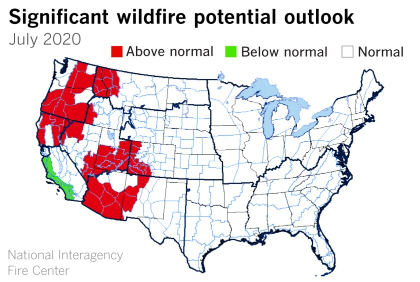 Drought in the Pacific Northwest and Northern California portends an early start to the fire season.