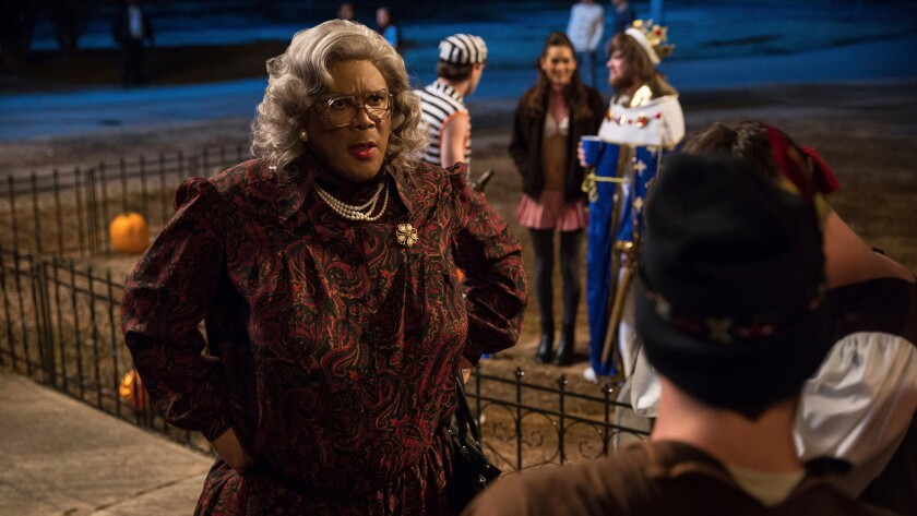 "Tyler Perry portrays Madea in ""Tyler Perry's Boo! A Madea Halloween."""