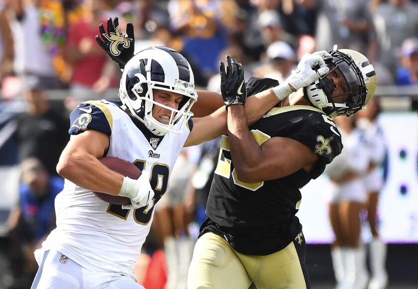 Rams Cooper Kupp and Todd Gurley well-armed for stiff competition with tacklers