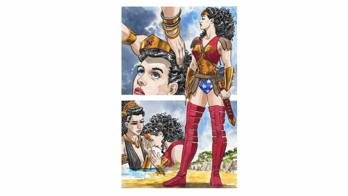 """An interior page from """"Wonder Woman: The True Amazon."""""""
