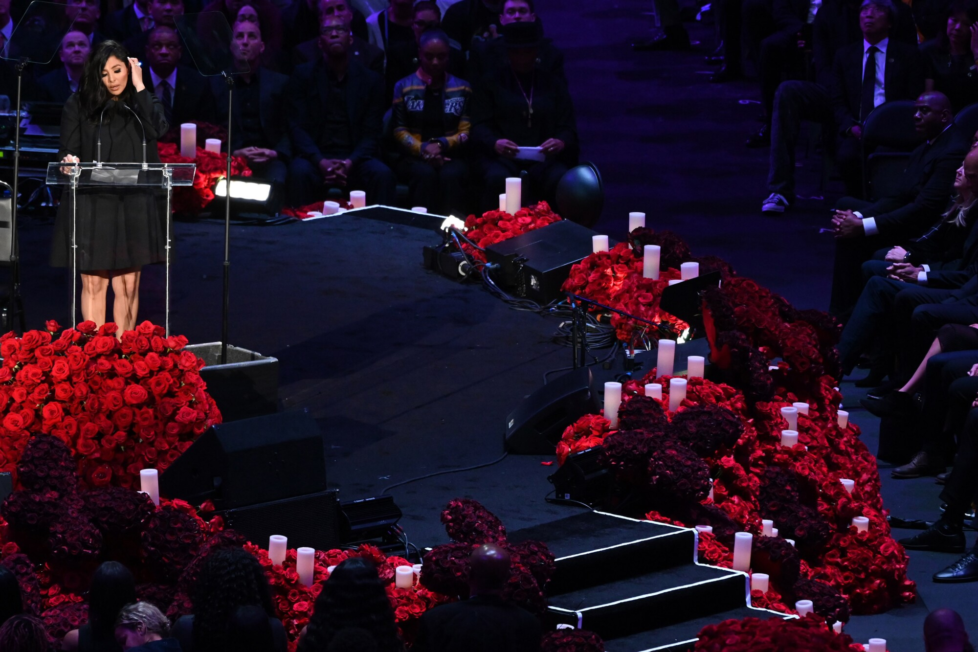 Vanessa Bryant at the Kobe & Gianna Bryant 'Celebration of Life' ceremony at Staples Center