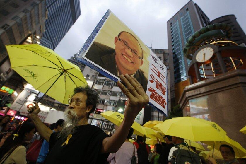 Anti-Beijing protesters
