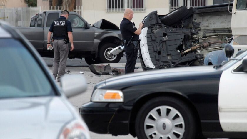 LOS ANGELES CA SEPTEMBER 13, 2017 Ñ An investigation is underway after five people were taken into