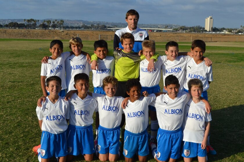 The Albion BU11 White team went undefeated for the entire season.