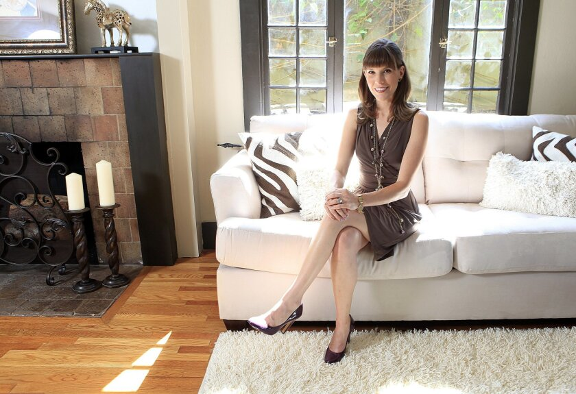 Fashion Week San Diego founder and producer Allison Andrews in a Mission Hills home.