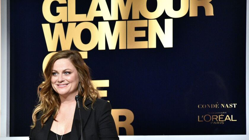 Amy Poehler speaks onstage at Glamour Women of the Year 2016.