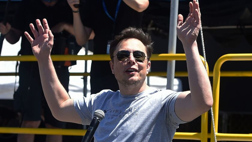 Elon Musk at a corporate event last year in Southern California