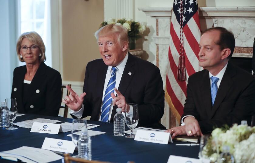 Betsy DeVos, Donald Trump, Alexander Acosta