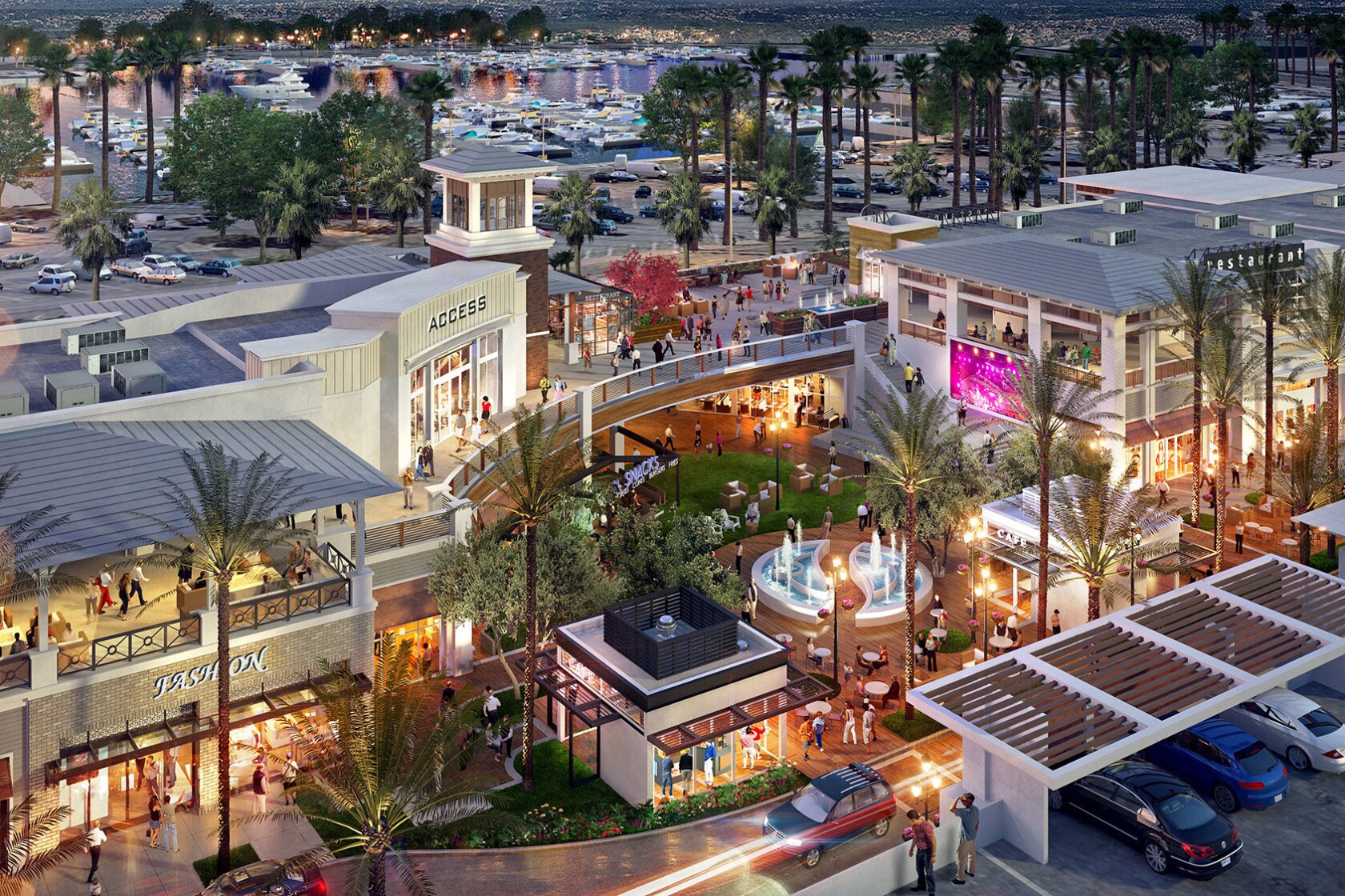 $100-million outdoor coastal mall replacing obsolete Long Beach