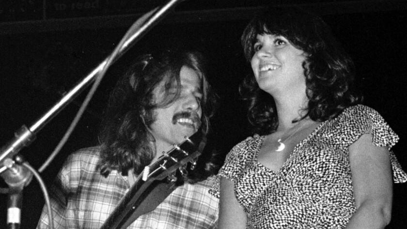 Glenn Frey and Linda Ronstadt performing in 1976.