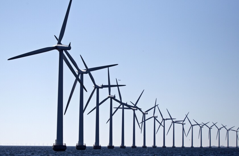 Wind turbines at Flakfortet near Copenhagen. A group of business leaders, including oil executives, are voicing opposition to President Donald Trump's proposed cuts to energy research.