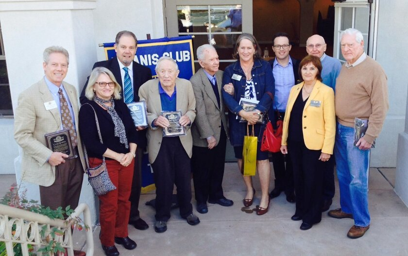 Some of the Kiwanis Club of La Jolla presidents recognized during the celebration include: Craig Bratlien (2014), Mary Talbot (2008), Glen Rasmussen (2004), Jack Talbot (1987), Dan Stinemates (1979), Wendy Matalon (1996), Doug Bradley (2005), Rebecca Morales (current), Dick Mullen (1988 and 1992) a