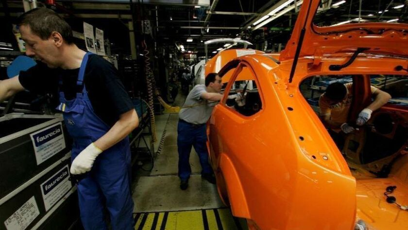 Car Production At Ford Plant