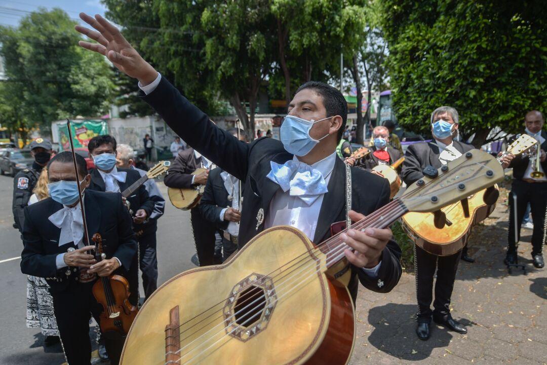 MEXICO-HEALTH-VIRUS-MUSIC-MARIACHIS