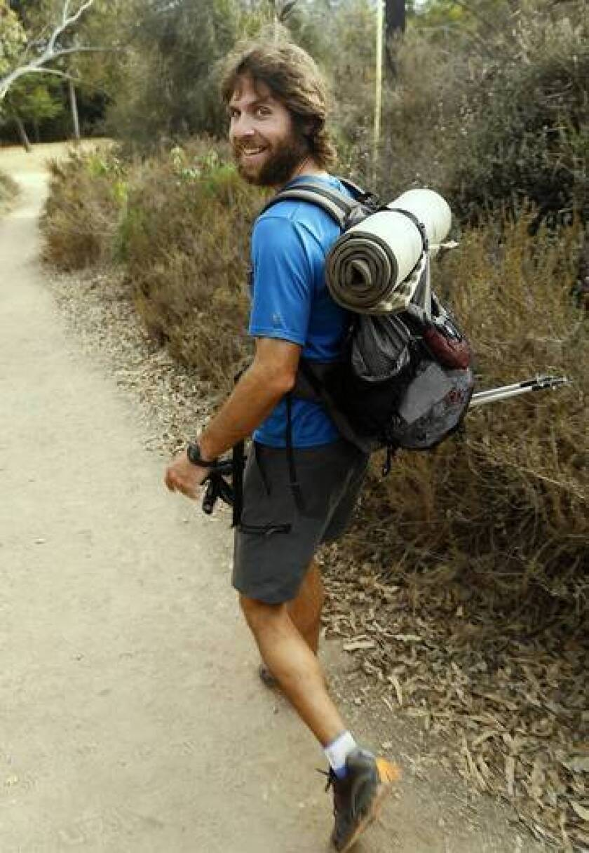 Joshua Garrett hiked the famed Pacific Crest Trail in what is believed to be a record 59 days and 8 hours.