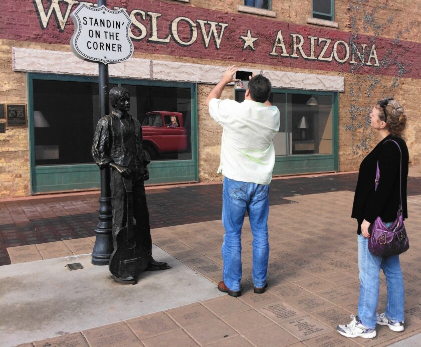 It's the corner, and statue, that made Winslow, Arizona
