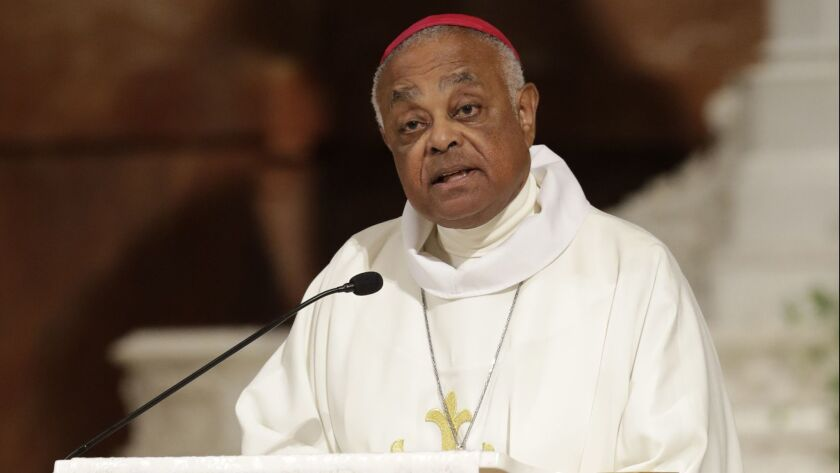FILE - In this June 14, 2017 file photo, Archbishop Wilton D. Gregory speaks during a Mass to repent