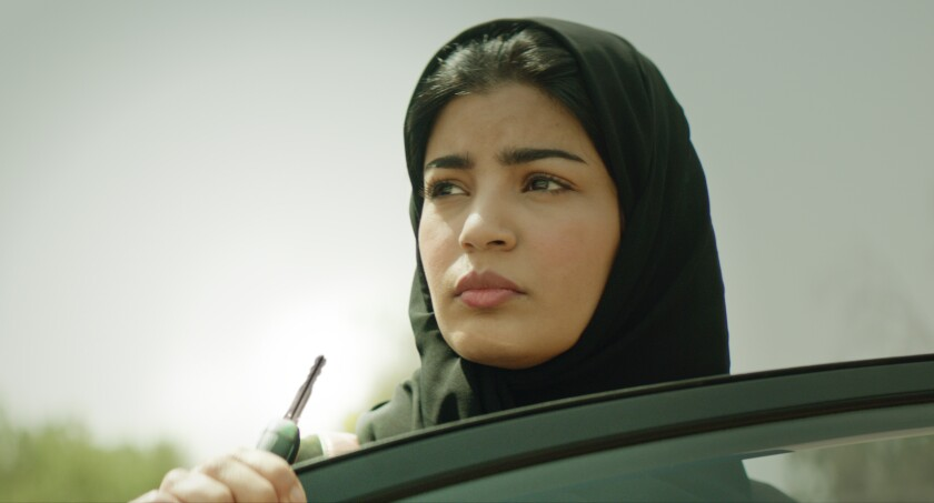 "Nora Al Awadh as Sara in ""The Perfect Candidate"""