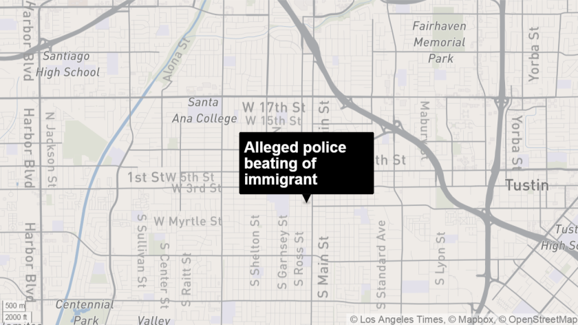 The FBI has confirmed it is looking into the alleged beating of a 27-year-old immigrant who was chased down by police in Santa Ana.