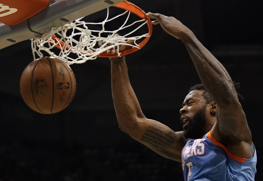 DeAndre Jordan is playing through pain as the Clippers chase another trip to the playoffs.