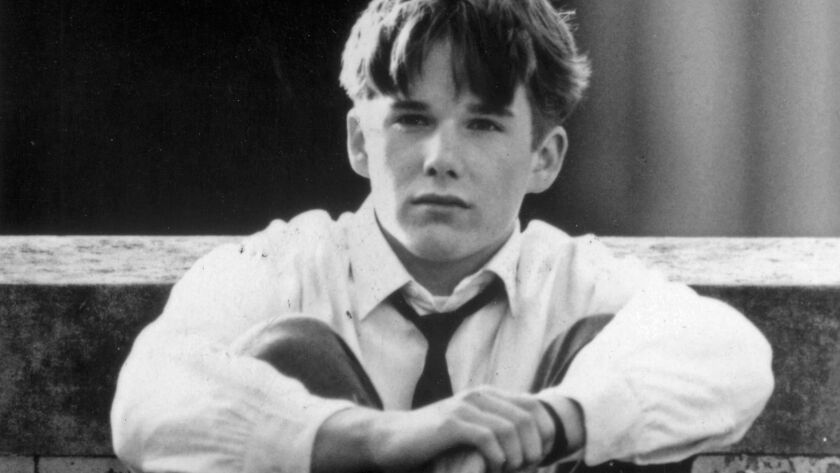 "Ethan Hawke as Todd Anderson in the film ""Dead Poets Society."""