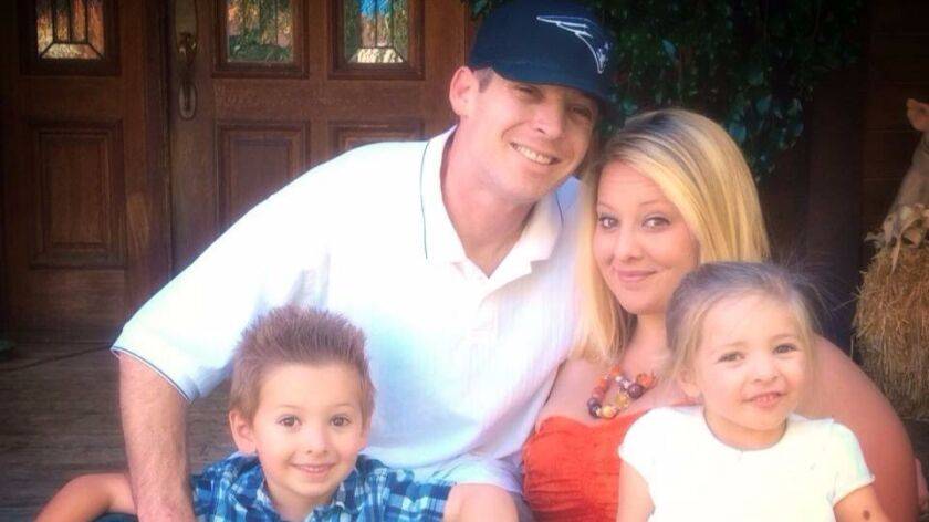 Jennifer Campbell, her husband, Donny Campbell, and their son and daughter, Dillon and Ariana.