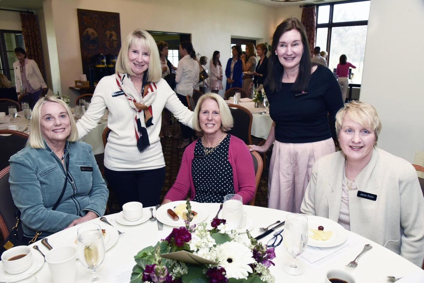 Standing: Candace Humber, Suzanne Butz. Seated: Carol Coburn, Kathy Stumm, Janie Rohn