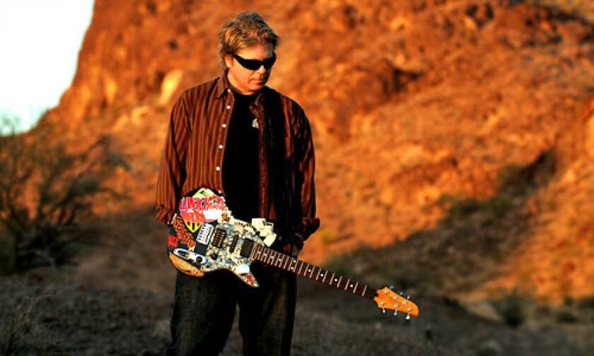 Offspring lead singer Dexter Holland in the mountains of Lake Havasu, Ariz.