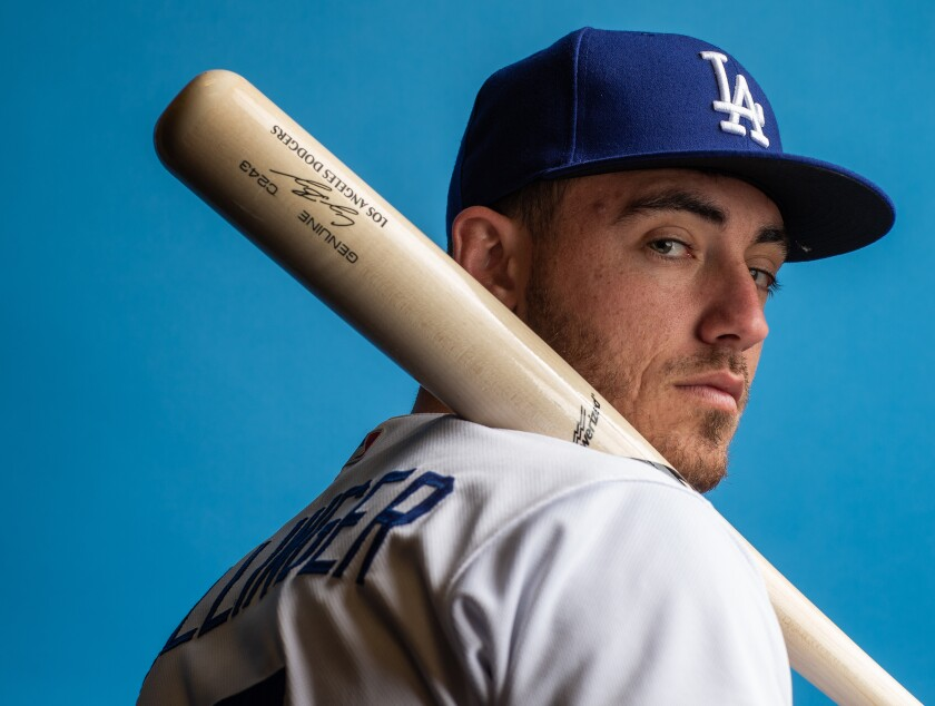 The Dodgers' Cody Bellinger was voted the National League most valuable player by baseball writers. (Photo by Rob Tringali/Getty Images)