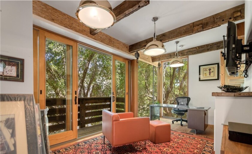 Rainn Wilson's half-acre compound includes a two-story home, a writer's studio and a barn.