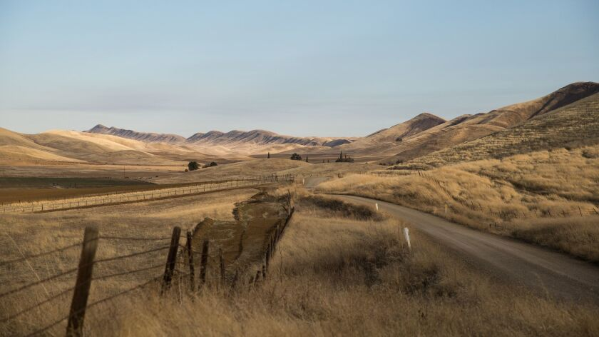 The Sites valley that would be inundated by the proposed Sites Reservoir near Maxwell, California, N
