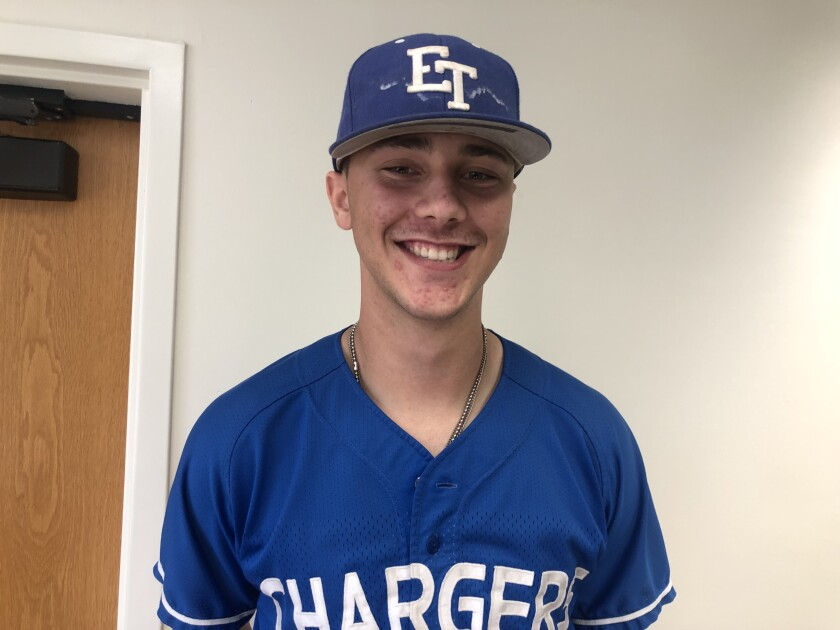 Paul Skenes of El Toro is a 6-foot-7 pitcher and catcher. He has two shutouts in three starts this season and has hit three home runs. He's committed to Air Force.