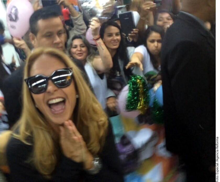 La actriz forma parte del elenco de la versión brasileña de Carita de Angel, en la que dar· vida a Teresa, la mamá· de la niña protagonista, Lorena Queiroz, de 5 años de edad. El melodrama es producido por la cadena SBT.
