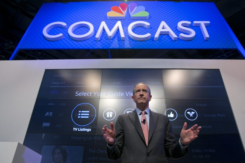 The congressman's friend: Brian Roberts, chairman and chief executive officer of Comcast Corp.