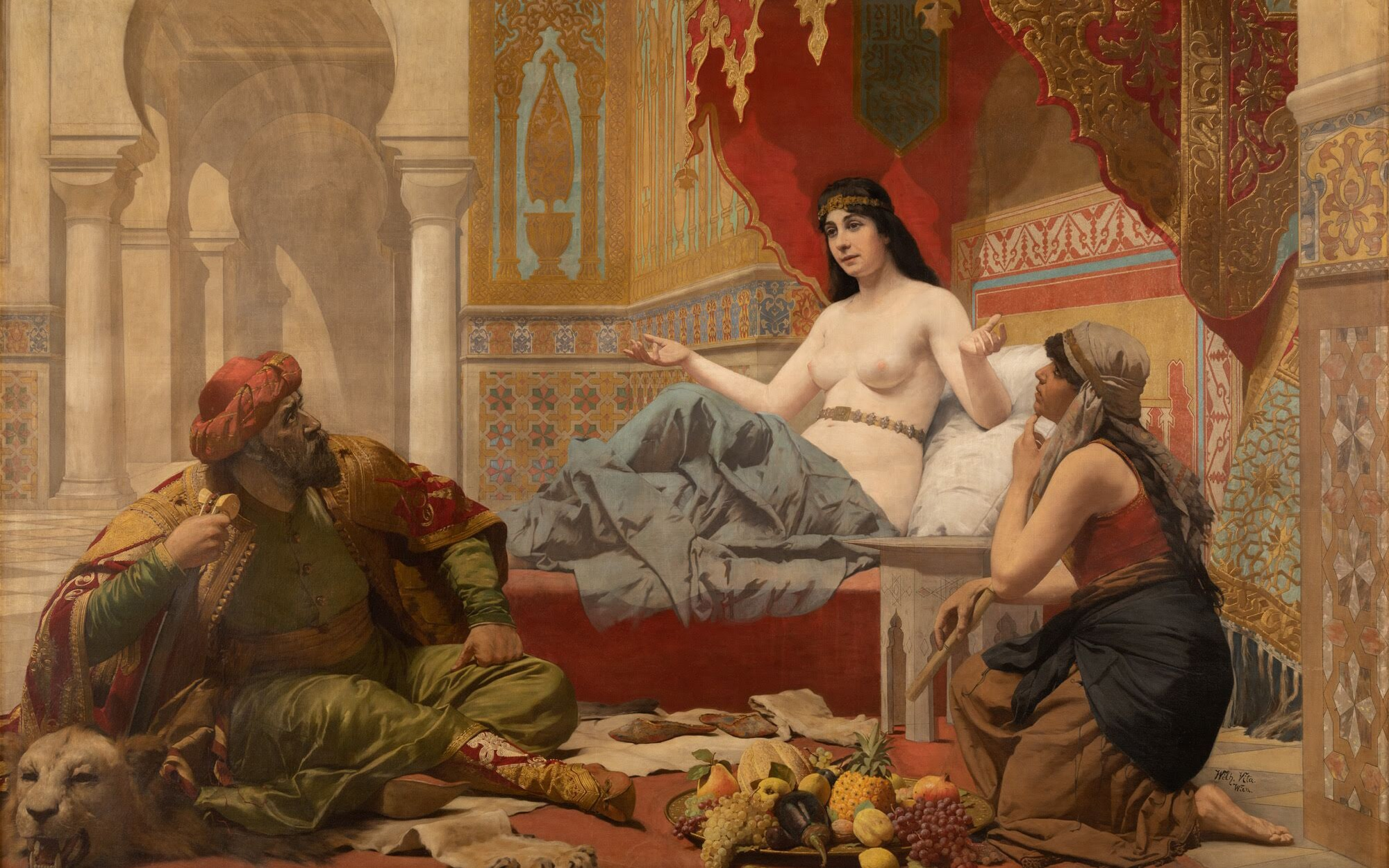 """Scheherazade,"" c. 1891, by Wilhelm Vita (oil on canvas)"
