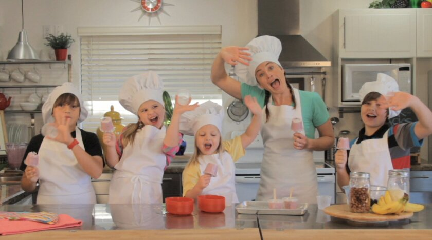 "The Vrklan family in the episode ""Skater Snacks"" on ""The Good Food Factory."""